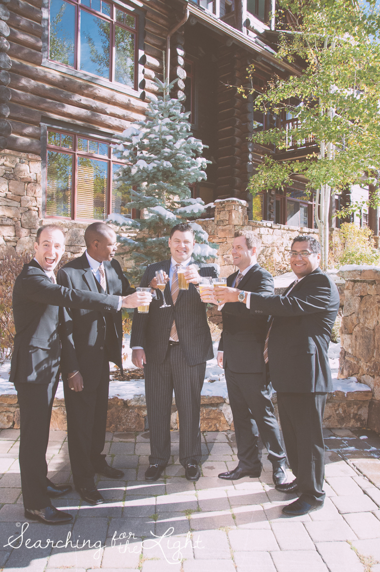 groomsmen Fall Wedding photos in Beaver Creek, CO by Denver Wedding Photographer