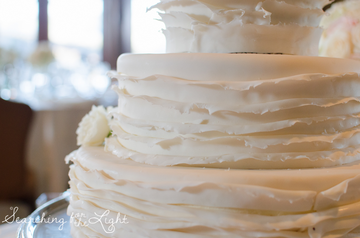 Fall Wedding photos and wedding cake in Beaver Creek, CO by Denver Wedding Photographer