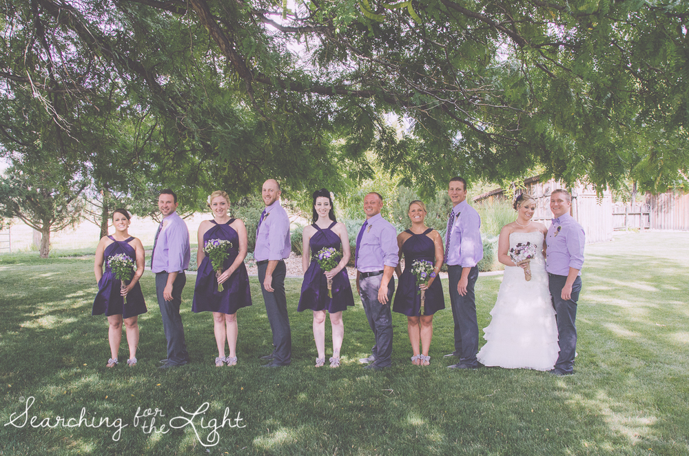 Wedding Party at Shupe Homestead Wedding Photo by Denver Wedding Photographer