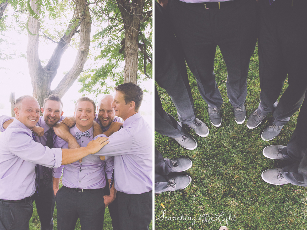 Groomsmen at Shupe Homestead Wedding Photo by Denver Wedding Photographer
