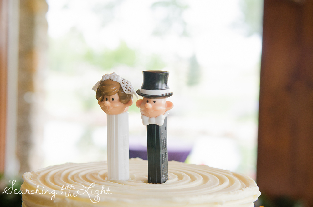 pez candy as cake toppers