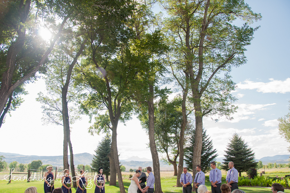 Ceremony at Shupe Homestead Wedding Photo by Denver Wedding Photographer