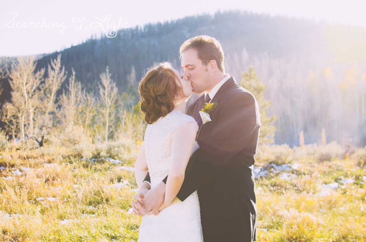 snow mountain ranch wedding in the fall, denver wedding photographer
