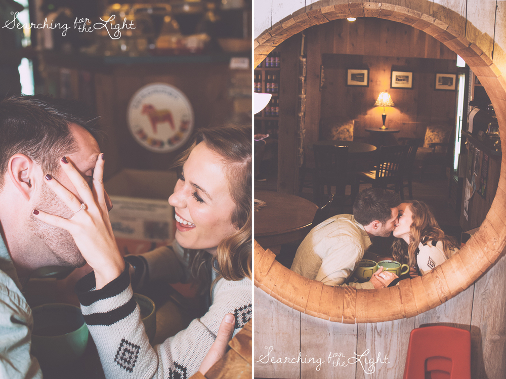 coffee shop engaement photos, denver engagement photos, denver wedding photographer, romantic engagement photos