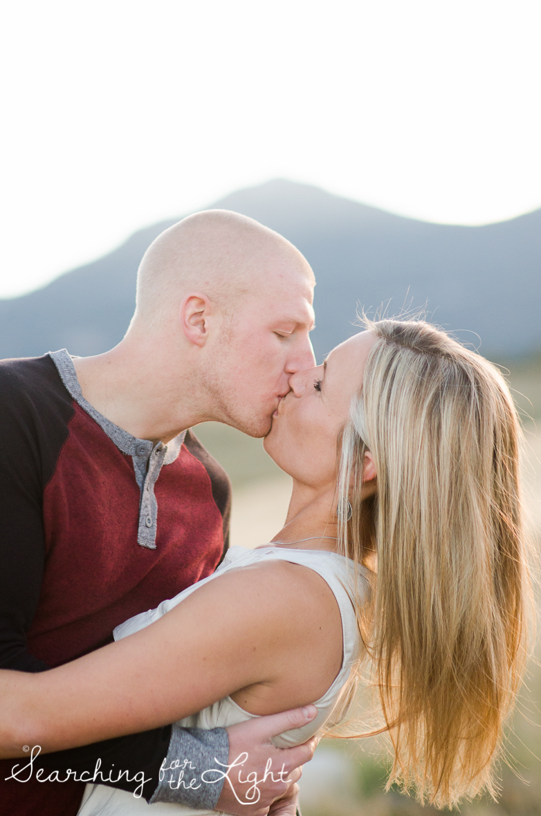 Denver Engagement Photos in the Boulder Flatirons  by Denver engagement photographer who specializes in romantic, whimsical dreamy style wedding photography