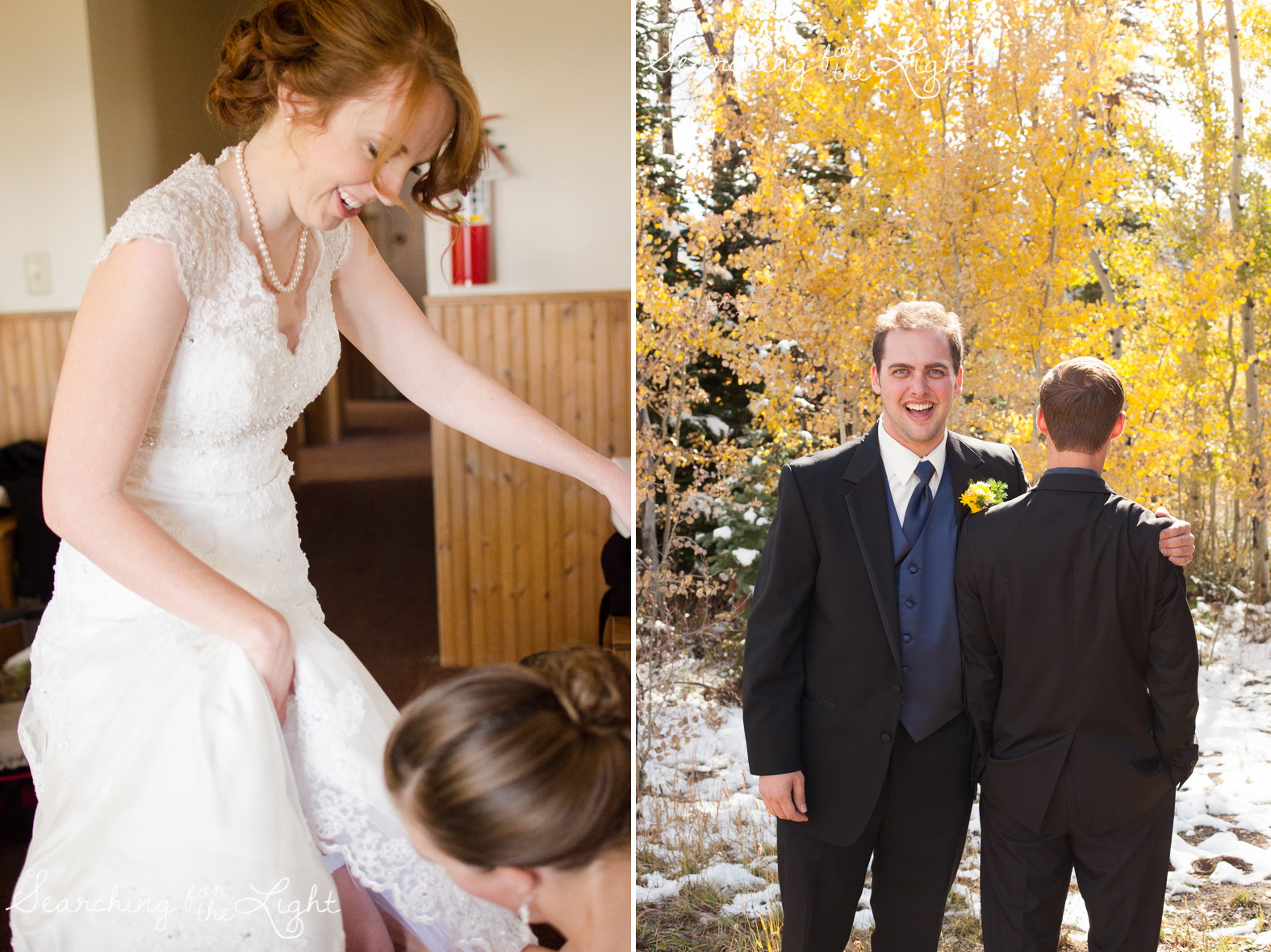 Snow Mountain Ranch Wedding Photo Fall Wedding by Denver Photographer