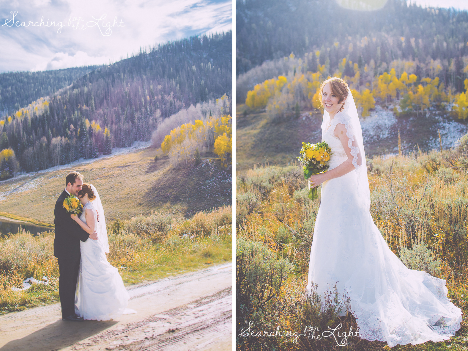 Snow mountain wedding
