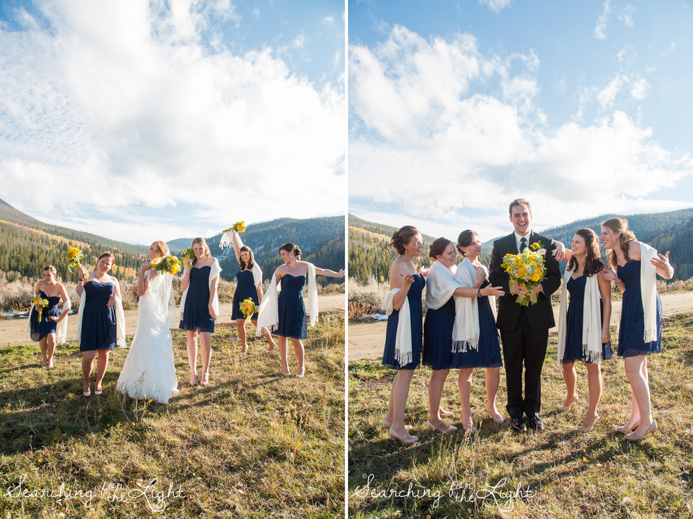 bridesmaides Snow Mountain Ranch Wedding Photo Fall Wedding by Denver Photographer