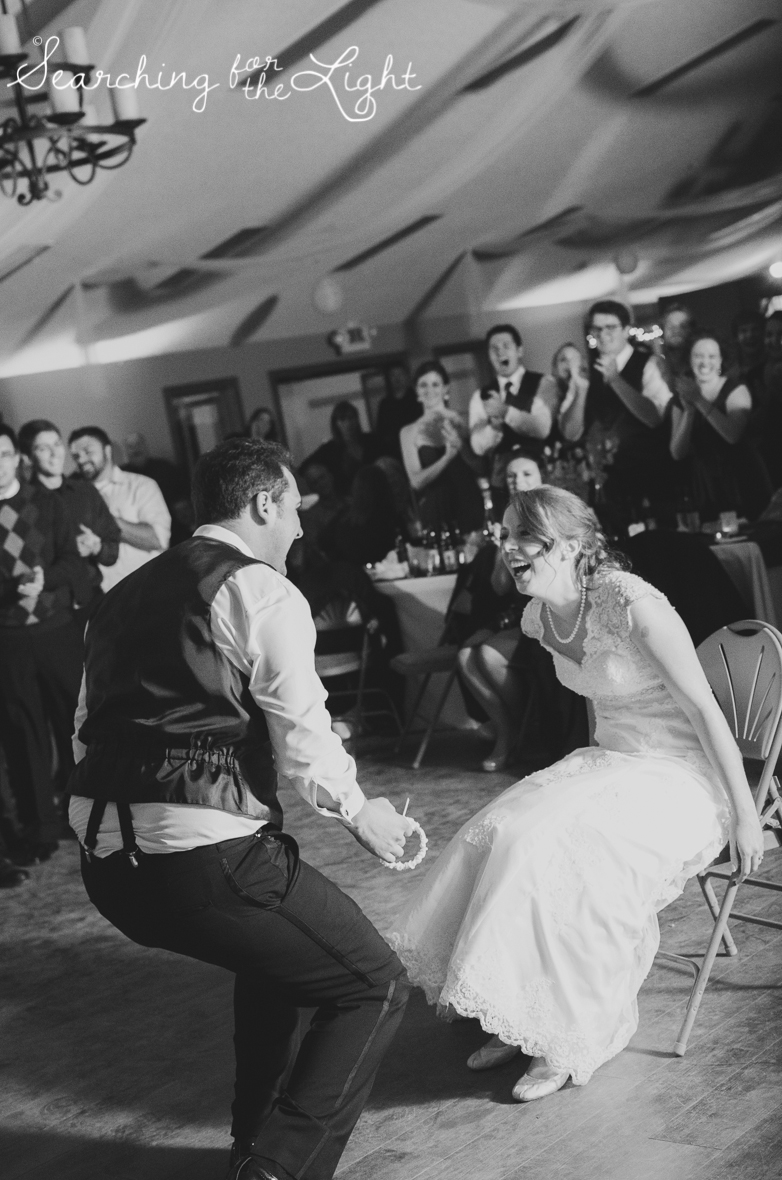 garter toss Snow Mountain Ranch Wedding Photo Fall Wedding by Denver Photographer