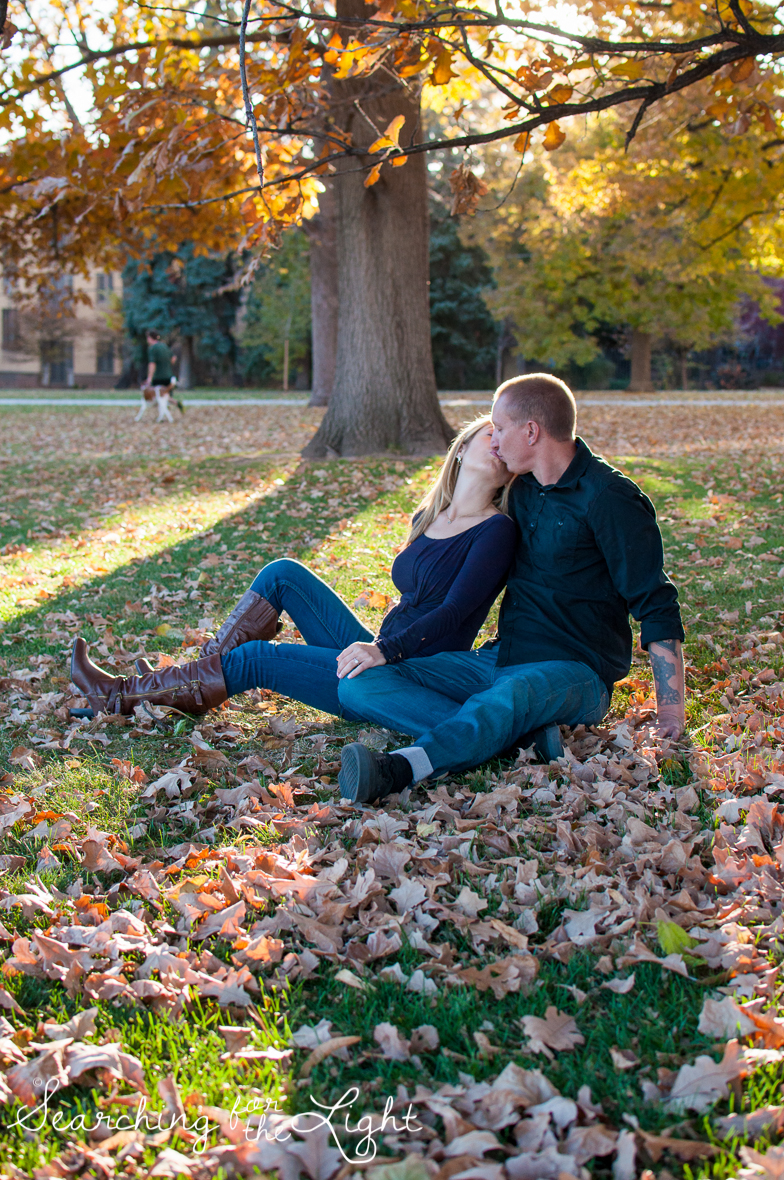 Denver Engagement photos at Cheeseman Park Dreamy Photos