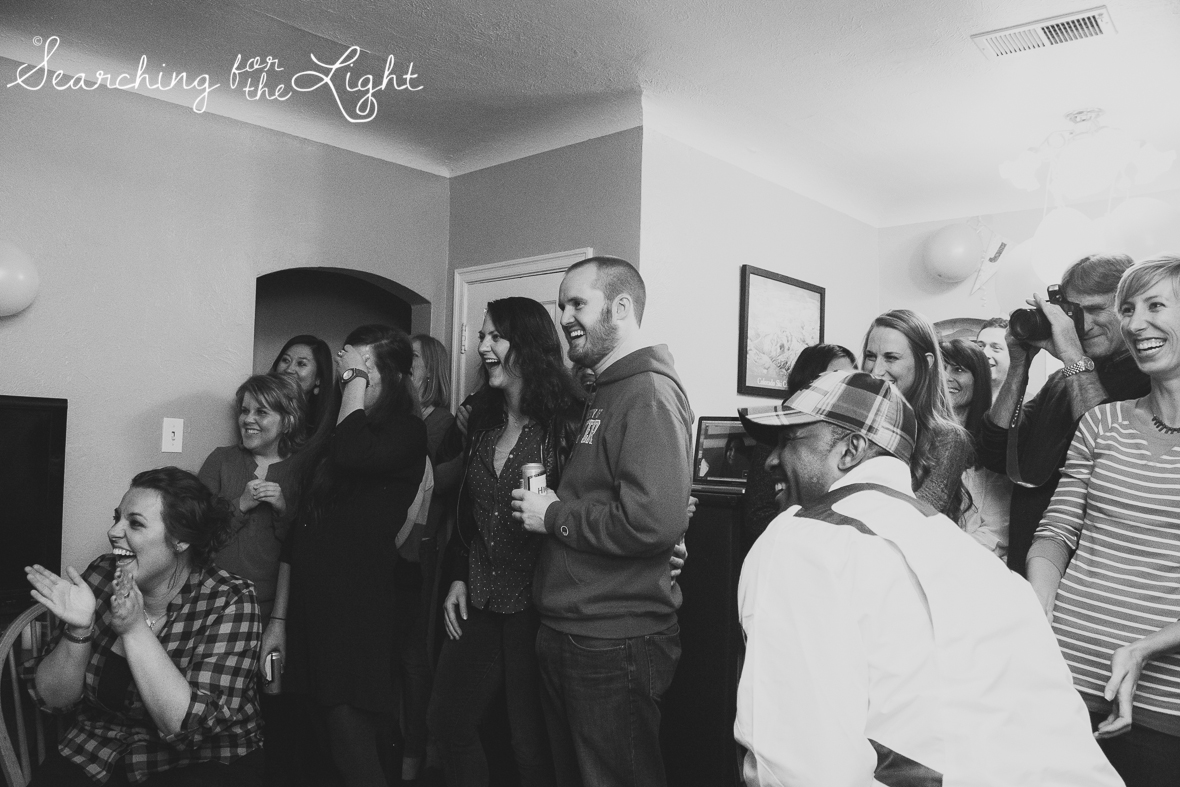 A surprise marriage proposal party by denver wedding photographer searchingforthelight.com
