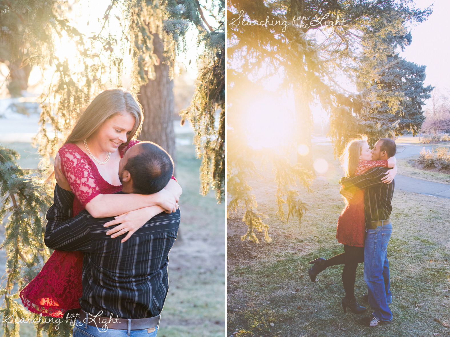 Denver Engagement Photos by Denver wedding photographer at Cheeseman Park