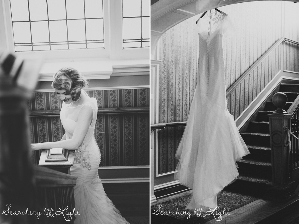 bridal portraits Parkside mansion wedding photo by denver wedding photographer, romantic evening wedding photo, city wedding