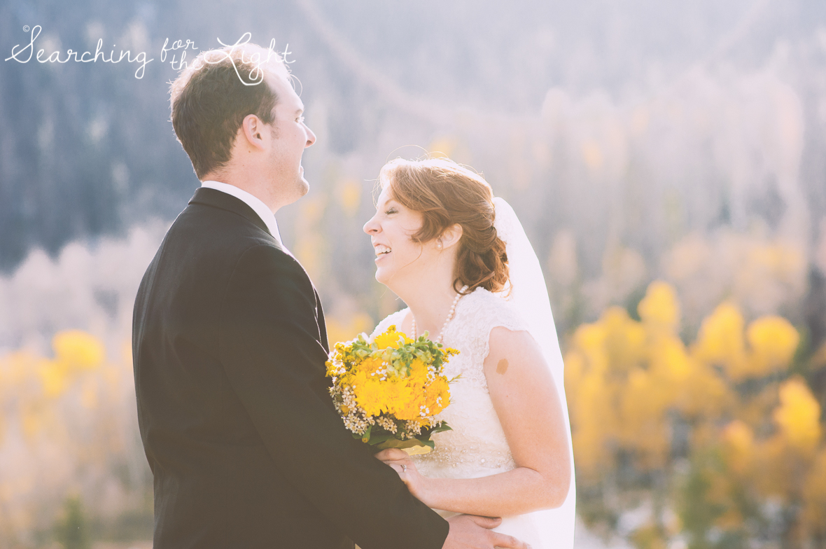 Have a Moment Alone Post Wedding Ceremony: Wedding Ideas from a professional Denver wedding photographer featuring the idea to make time for a moment alone.