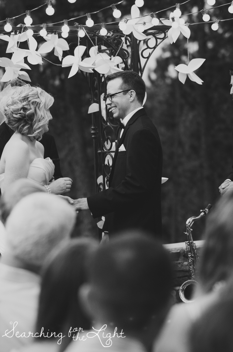 Your Wedding Ceremony: Stand in the Center | wedding ideas from a professional Denver wedding photographer encouraging couples to make sure they stand in the center of the aisle.