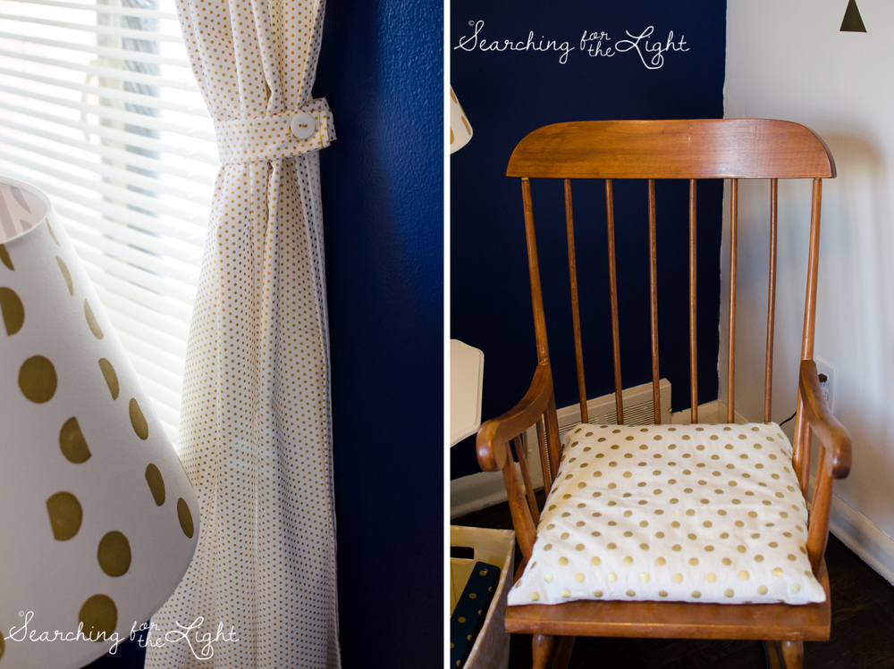 Blue & Gold Nursery | Creative Unique Girl Nursery Ideas by denver photographer searchingforthelight.com