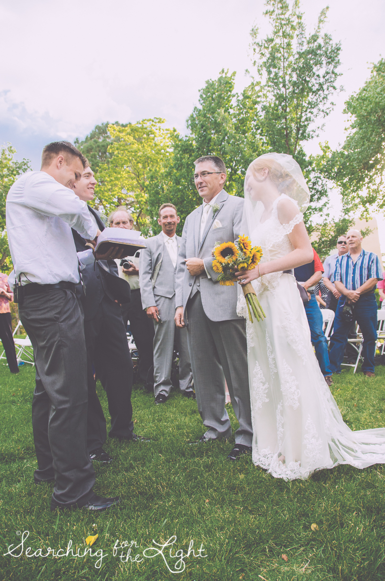 Guests Staying Seated During Your Wedding Ceremony: Wedding Planning Ideas from a professional Denver wedding photographer featuring reasons why you may need to ask your guests to stay seated