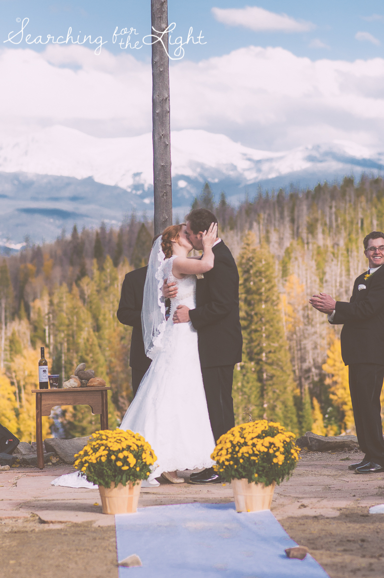 The Wedding Ceremony Kiss: Wedding ideas from a professional denver wedding photographer featuring tips on how to make sure your first kiss is picture perfect