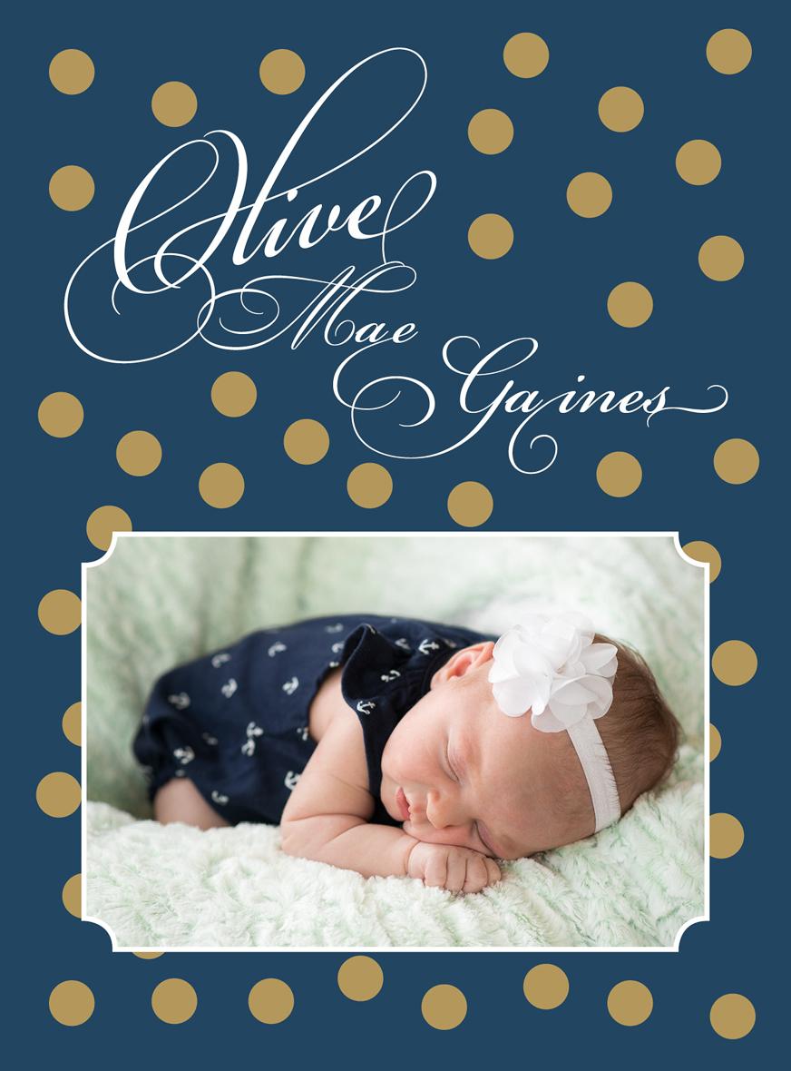 Denver-newborn-photographer-Olive Birth Announcement