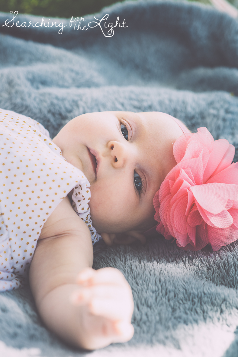 Denver newborn photos, baby girl two months old