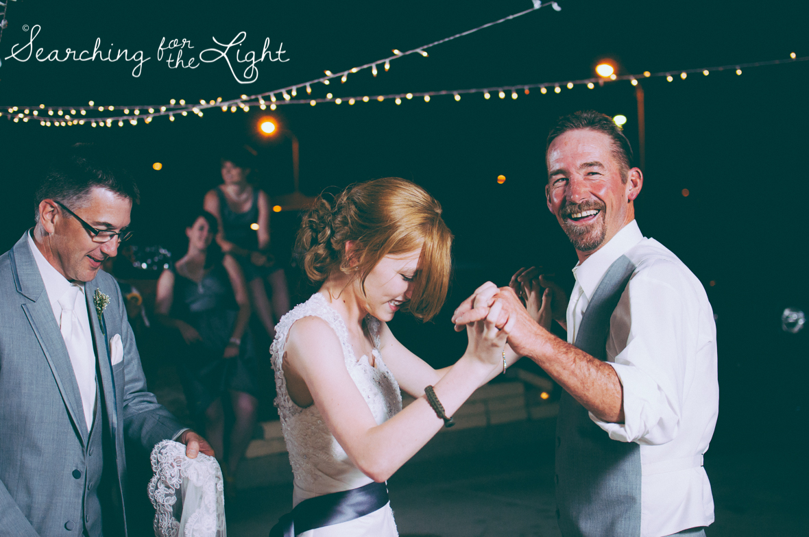 Go with the Flow at your Wedding Reception: Wedding Ideas from a professional Denver wedding photographer featuring the idea to just relax and enjoy your wedding