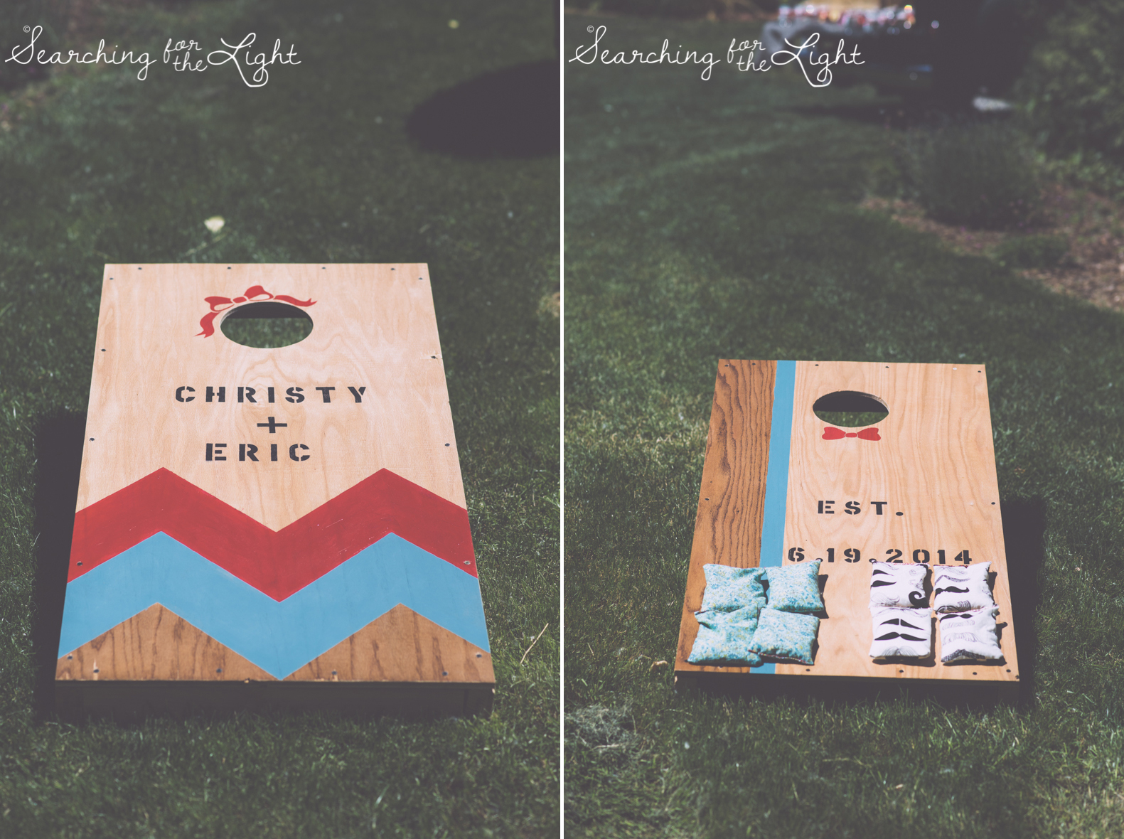 lyons farmette wedding photo, colorado wedding photographer, denver wedding photographer, corn hole yard games at wedding cocktail hour