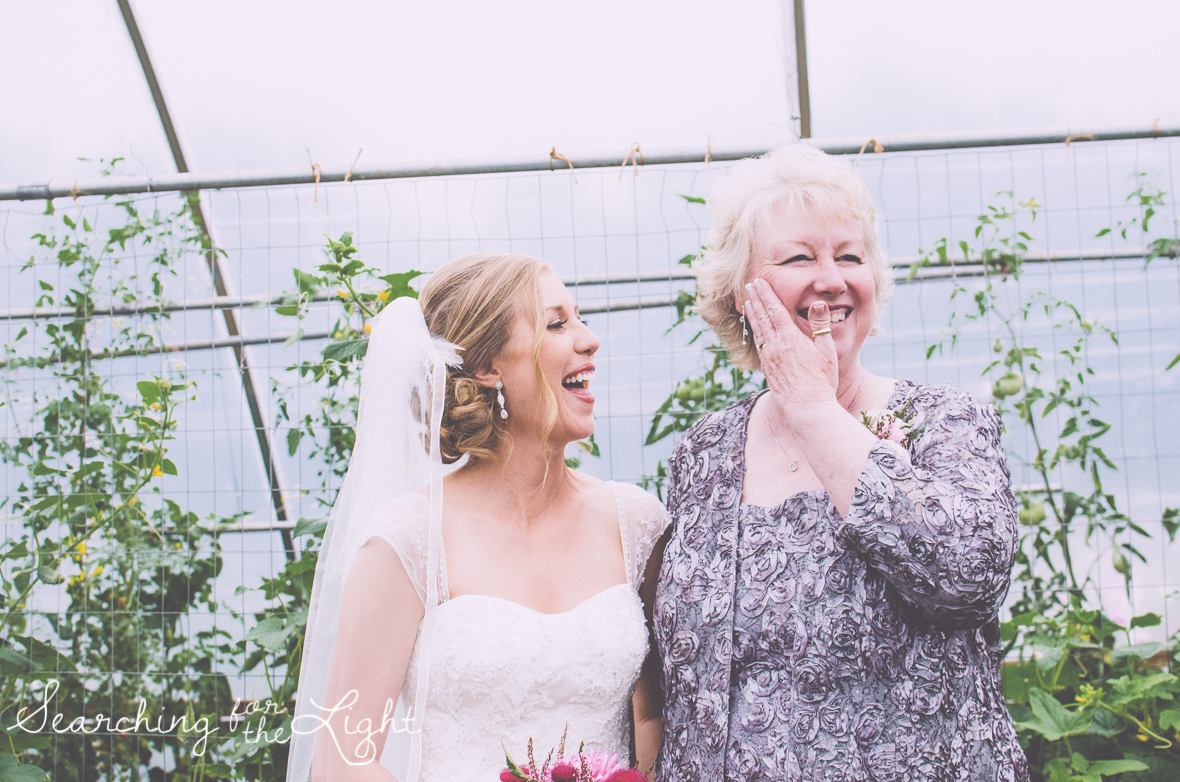 bride and mother of the bride  lyons farmette wedding by colorado wedding photographer