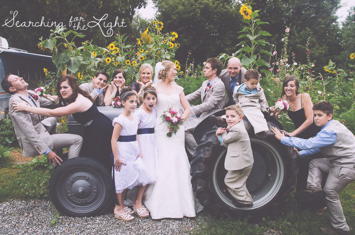 wedding party lyons farmette wedding by colorado wedding photographer
