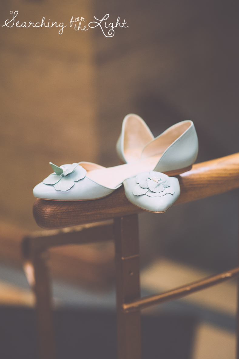 bride shoes photo at Holy Ghost Catholic church, colorado wedding photographer photos