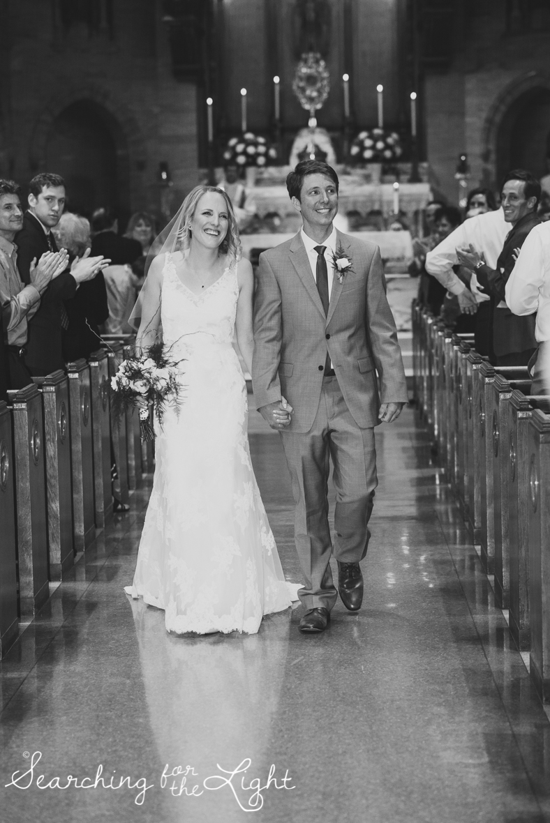 bride and groom after they were just married, church wedding, colorado wedding photographer photos