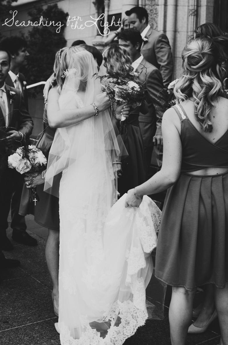 congratulations after getting married, church wedding, colorado wedding photographer photos