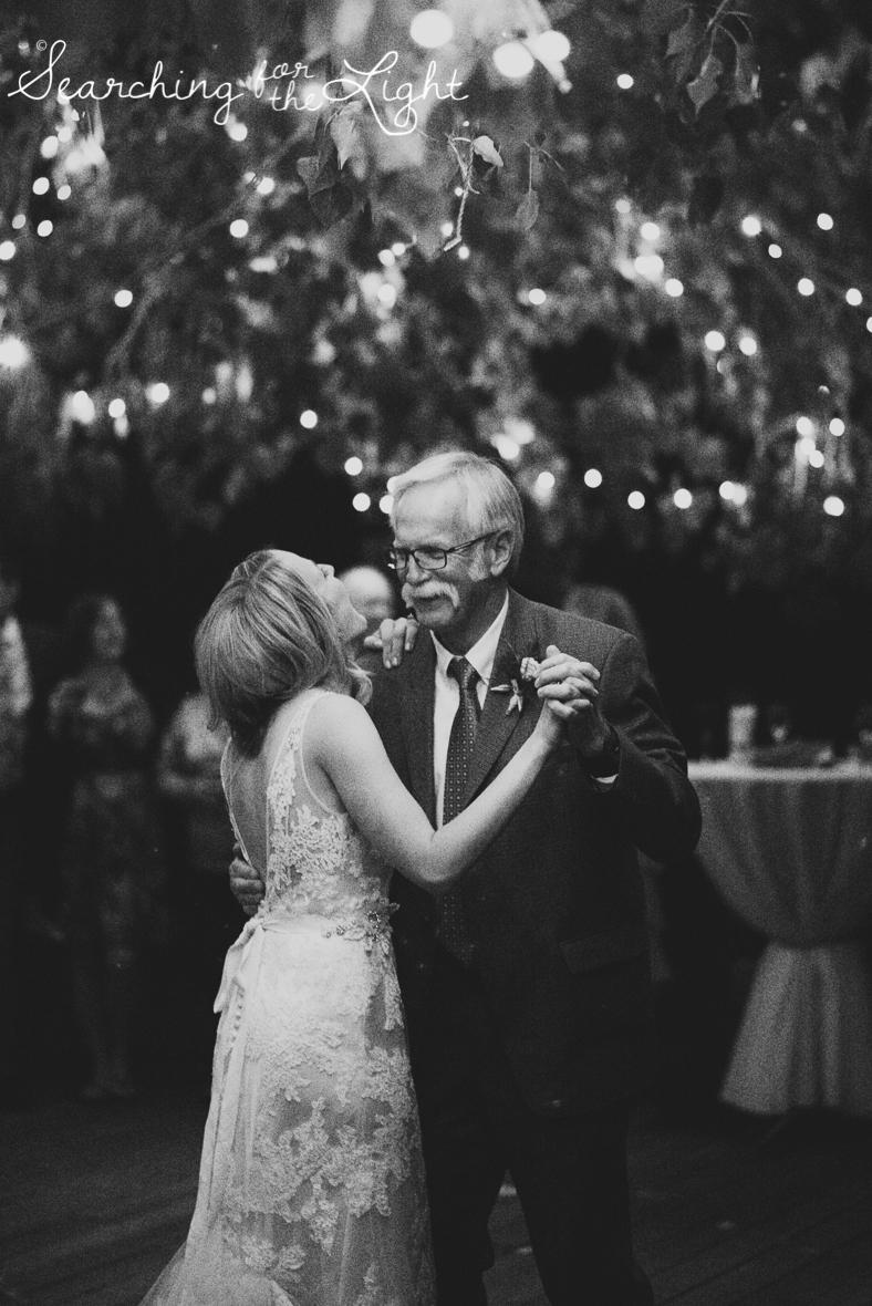 father daughter dance at denver botanical garden at chatfield, colorado wedding photographer photos
