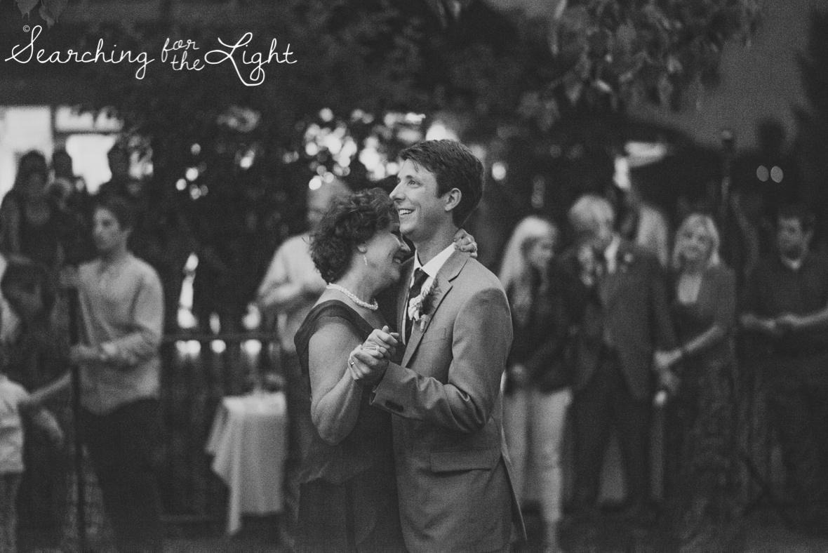 mother son dance at denver botanical garden at chatfield, colorado wedding photographer photos