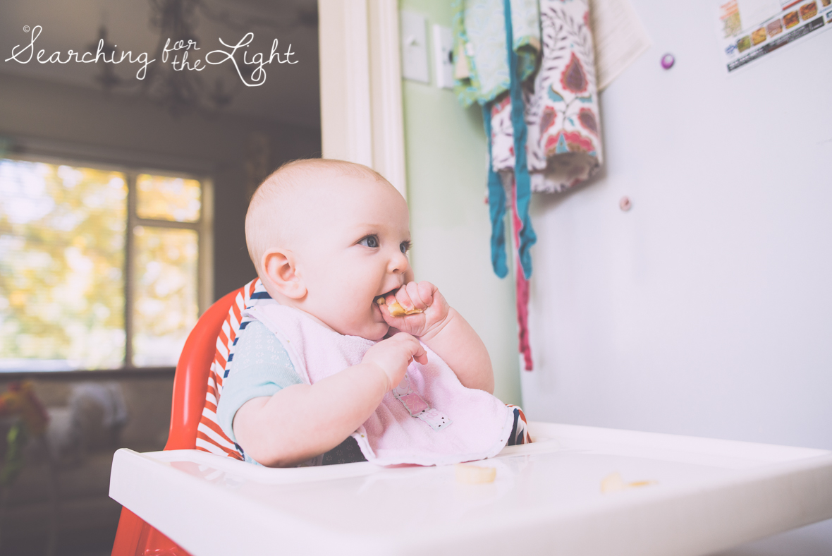 Starting solids baby lead weaning by colorado baby photographer