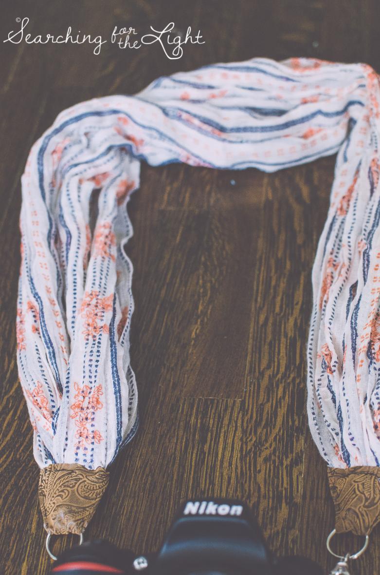 diy scarf camera strap