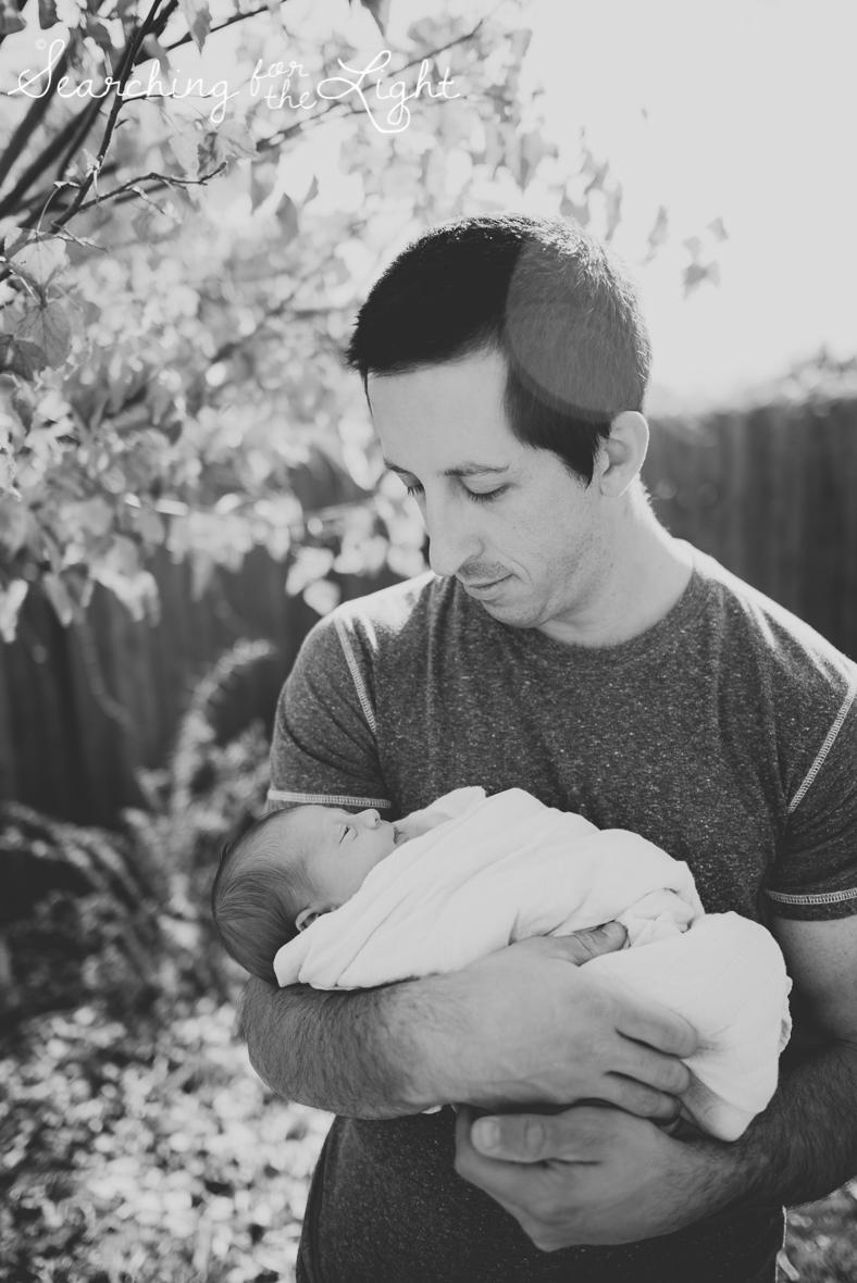 Denver newborn photographer, Newborn photos, baby and dad