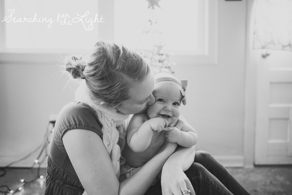 denver baby photographer, December baby photos, christmas baby photos, baby and mom