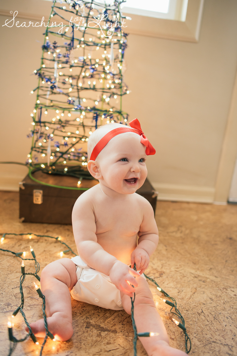 denver baby photographer, December baby photos, christmas baby photos