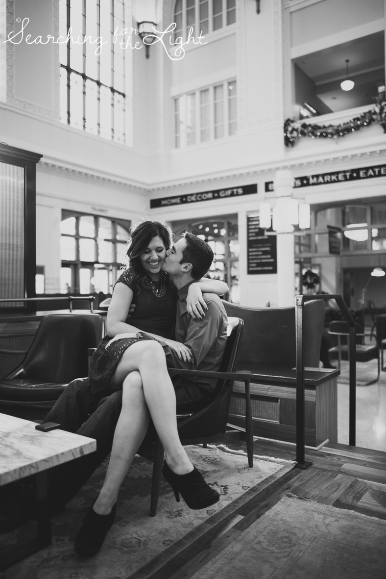 denver engagement photographer Union Station engagement photos lodo engagement photos, romantic engagement photos