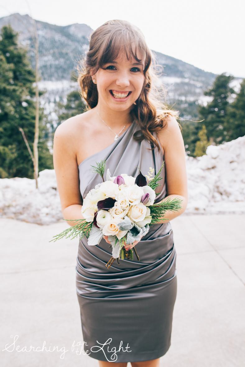 colorado wedding photographer, winter estes park wedding, winter wedding, wedding flowers,