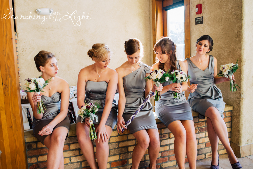 colorado wedding photographer, winter estes park wedding, winter wedding, bridesmaids photos