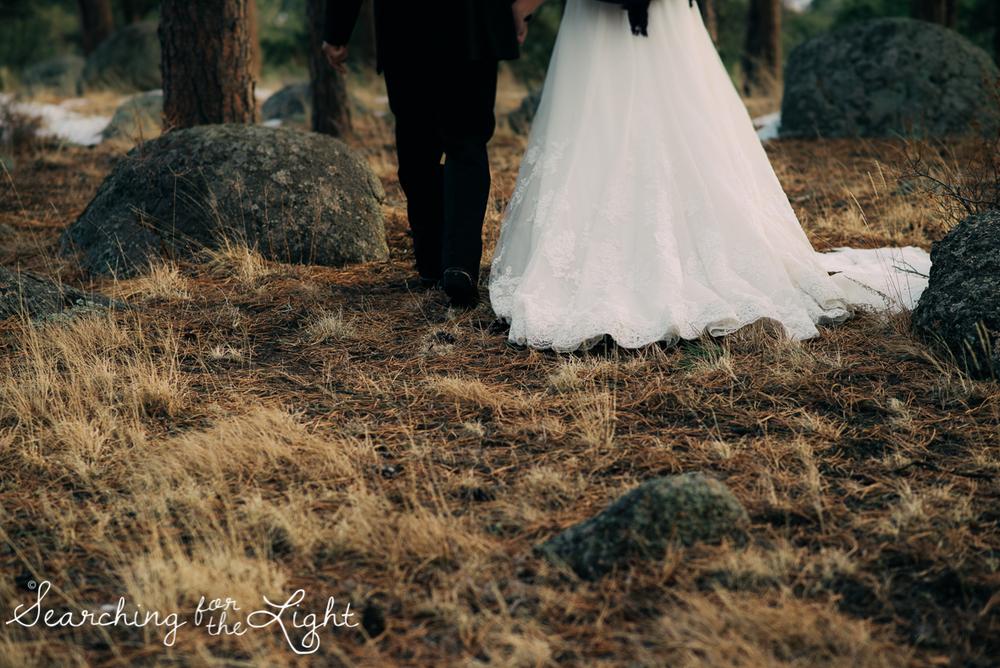 colorado wedding photographer, winter estes park wedding, winter wedding,