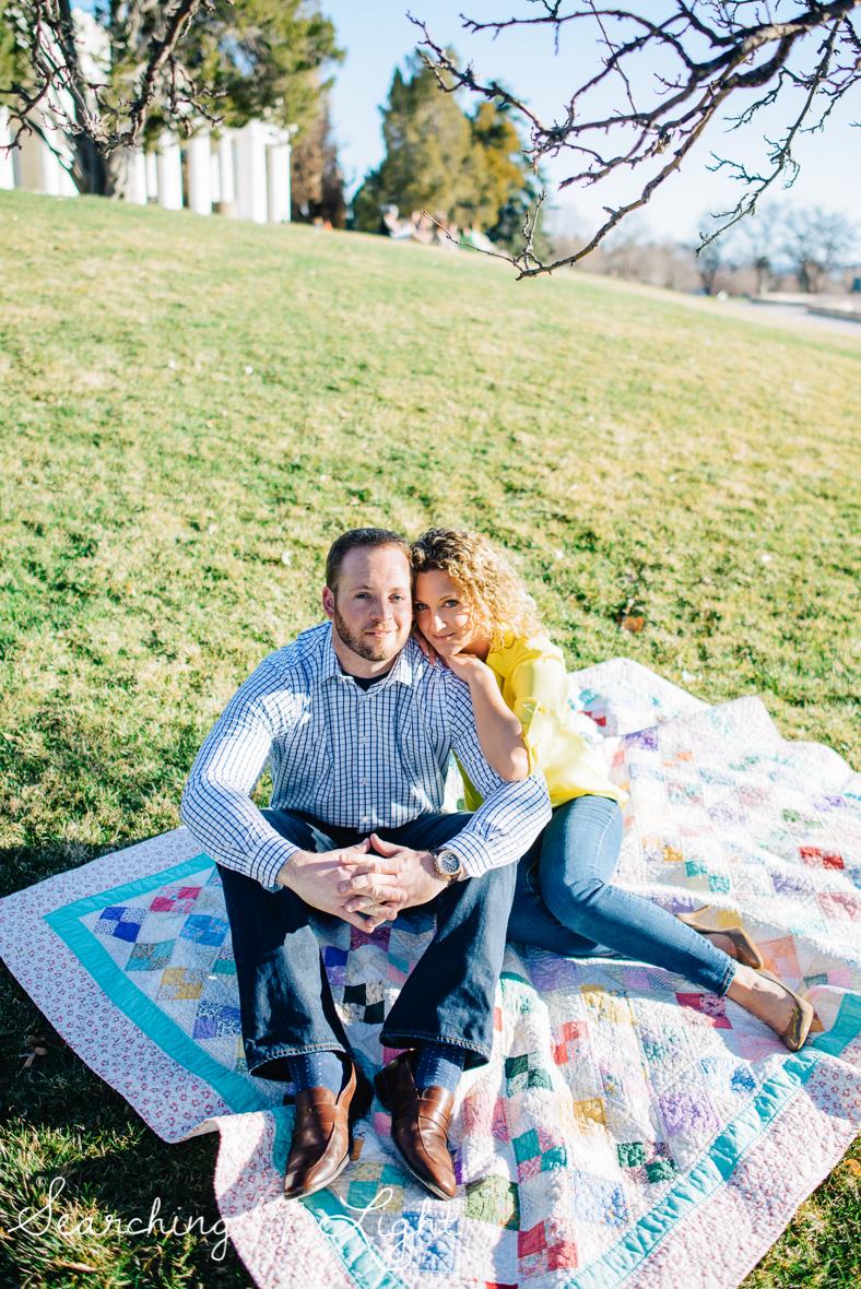 Cuddly park engagement photos by denver colorado engagement photographer, cheeseman park denver co engagement photos