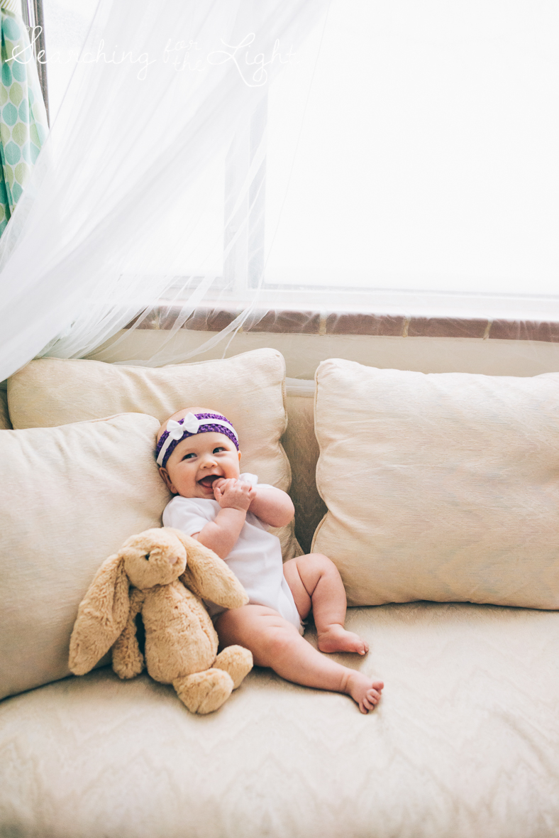 Colorado baby photographer of a family of three, cozy family photos, four month old baby