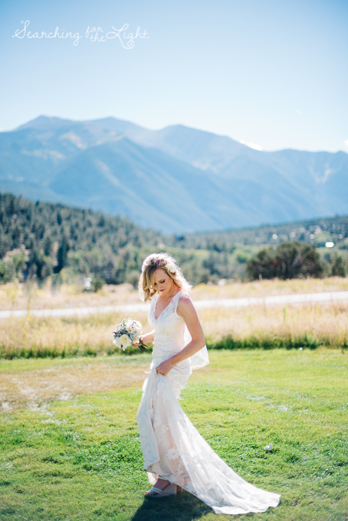 Not me but a beautiful bride from a mountain wedding I photographed