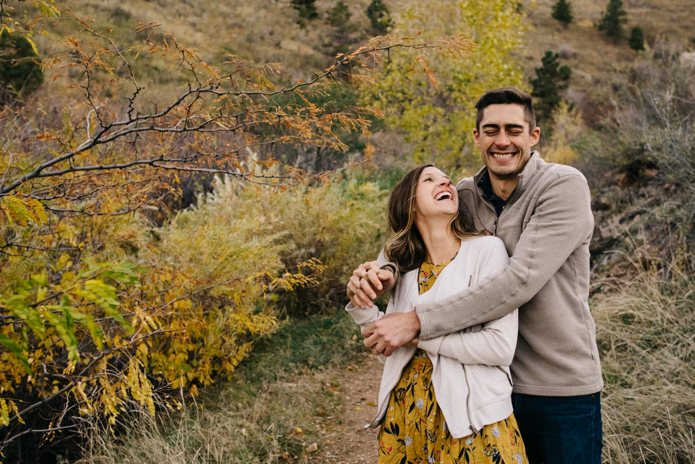 Adventure Rock Climbing Couple Engagement Photos | Mountain Engagement Photographer, adventurous engagement photos