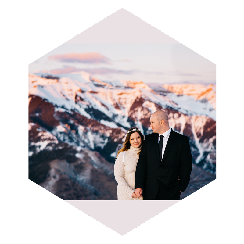 Ideal Location -  I'll help plan the most ideal location that represents you two for your elopement. I want to capture your Colorado elopement in the full beauty that this state holds, whether we find the perfect mountain top, valley or lake side, I am excited to go on this adventure with you all. I am also available for destination elopements outside of Colorado and would love to help you find the perfect place, maybe Milford Sound, New Zealand, The Scottish Highlands, Faroe Islands, The French Alps in France, or the Dolomites in Italy.