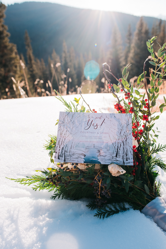 Snowmobile Adventure Winter Mountain Elopement | Vail Pass Winter Elopement | Colorado Elopement Photographer