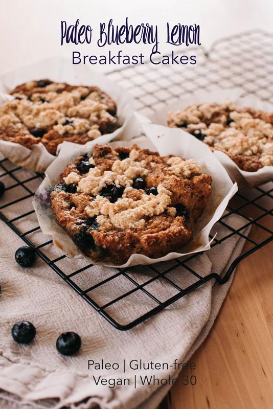 Paleo Blueberry Lemon Breakfast Cakes Recipe | Paleo, Whole 30
