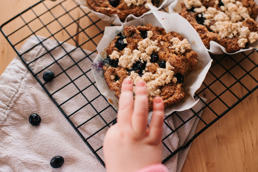 Paleo Blueberry Lemon Breakfast Cakes Recipe | Paleo, Whole 30, Gluten Free, Vegan Breakfast Idea | Denver, Mountain Colorado Photographer